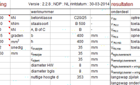 Beton Compact Controle Dwarskracht & Wringing enz.